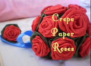 Comment faire des petites roses en papier cr pon facile hobby or not hobby - Fleur en crepon facile ...